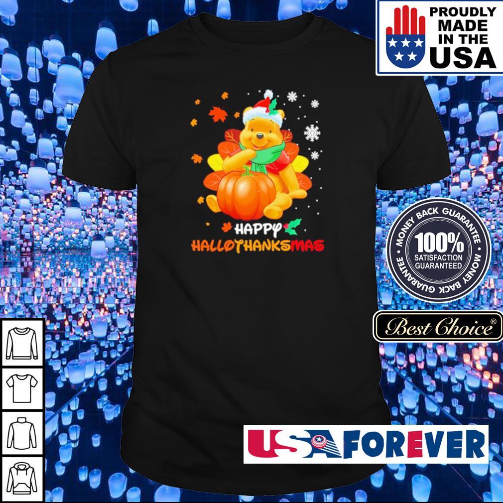 Winnie the pooh happy hallothanksmas shirt