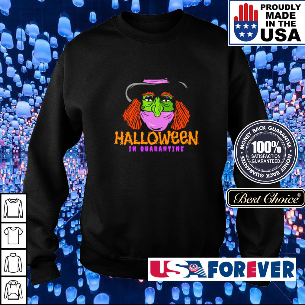 Witch wearing mask Halloween in quarantine s sweater