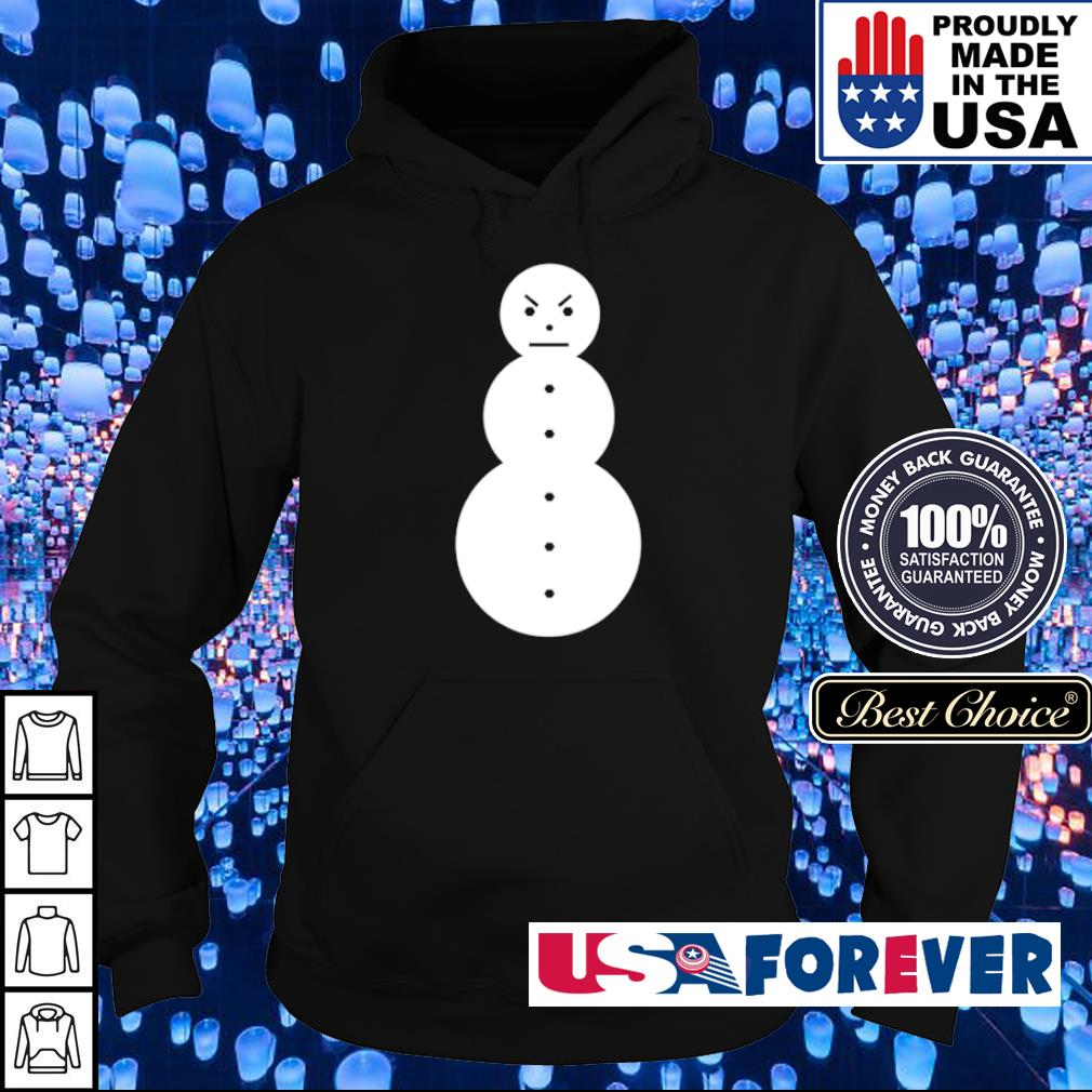 Angry snowman merry Christmas sweater hoodie
