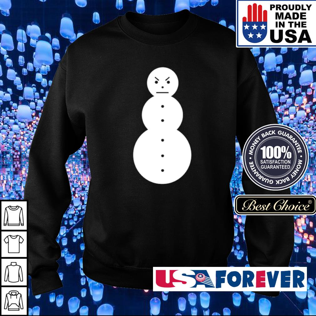 Angry snowman merry Christmas sweater