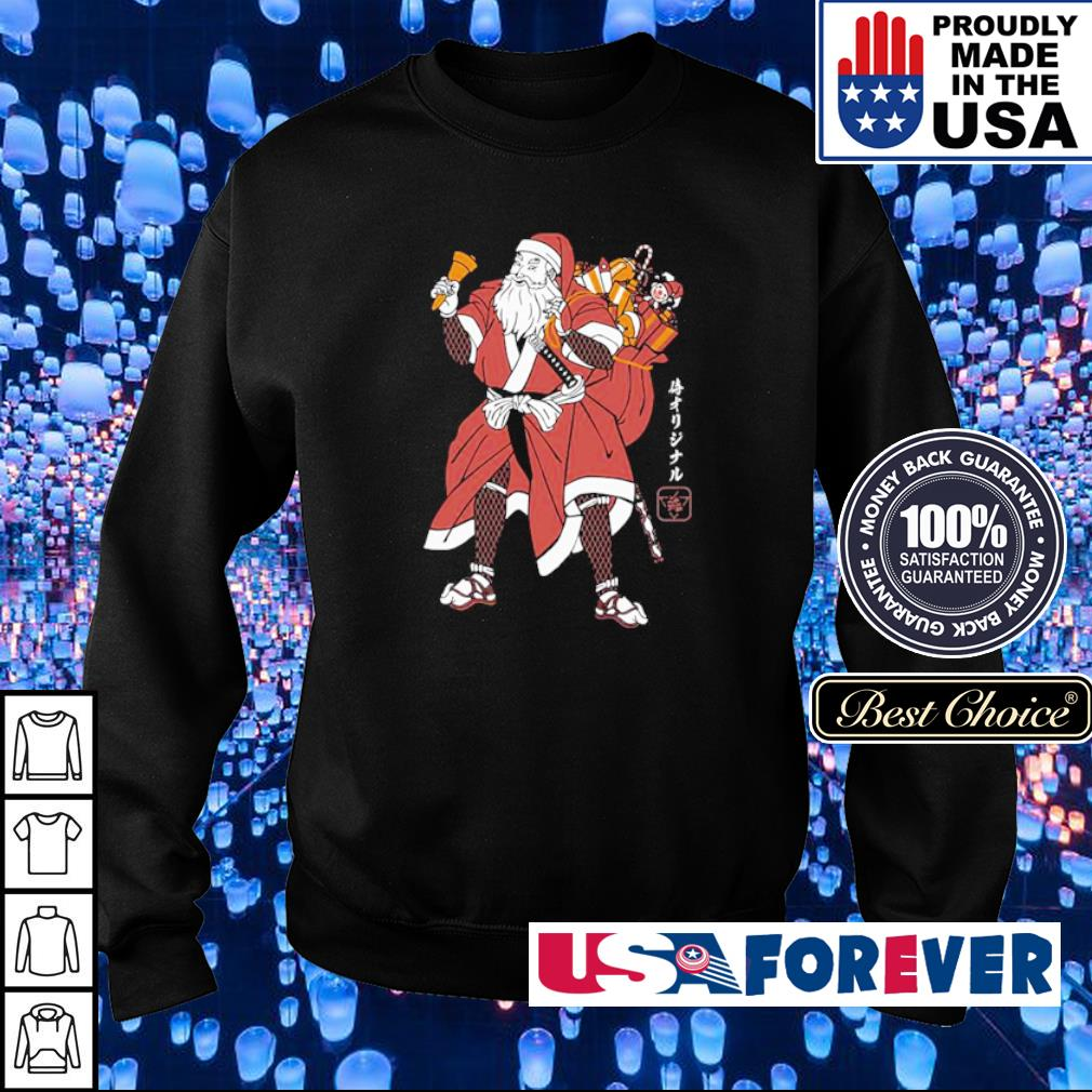 Awesome Santa samurai merry Christmas sweater