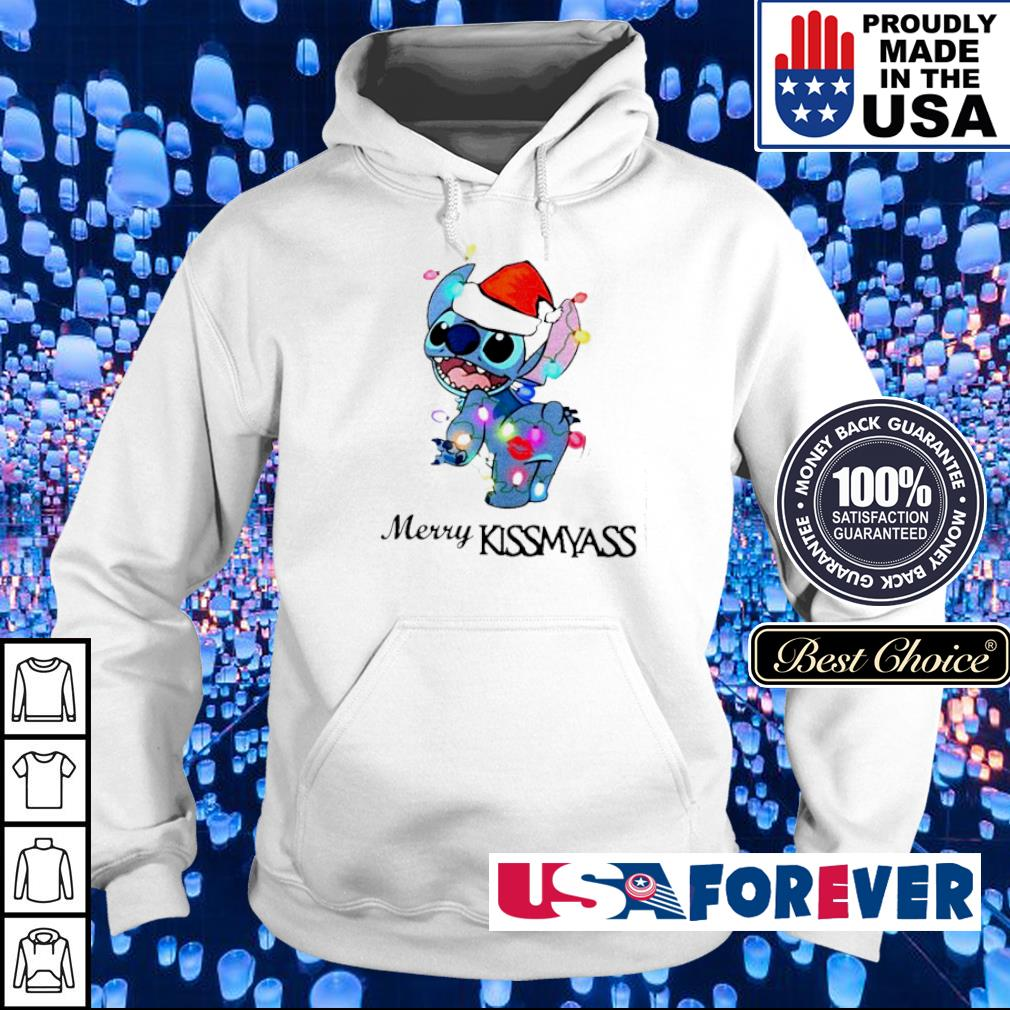 Awesome Stitch merry kissmyass Christmas sweater hoodie