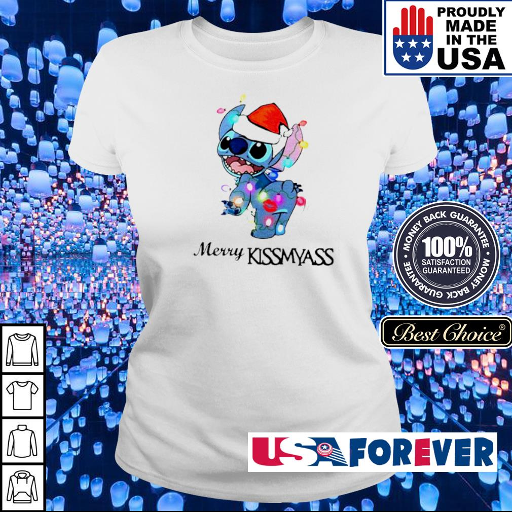 Awesome Stitch merry kissmyass Christmas sweater ladies