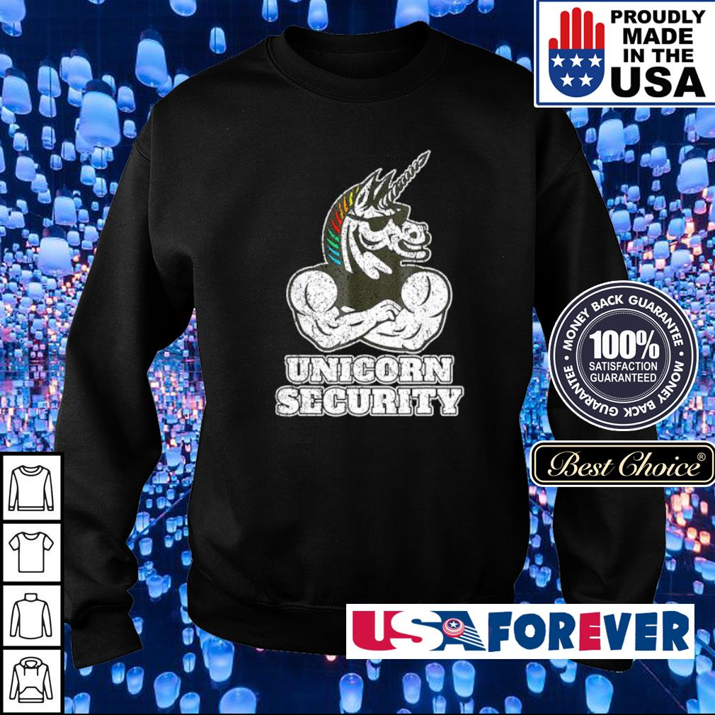 Awesome unicorn security muscular s sweater