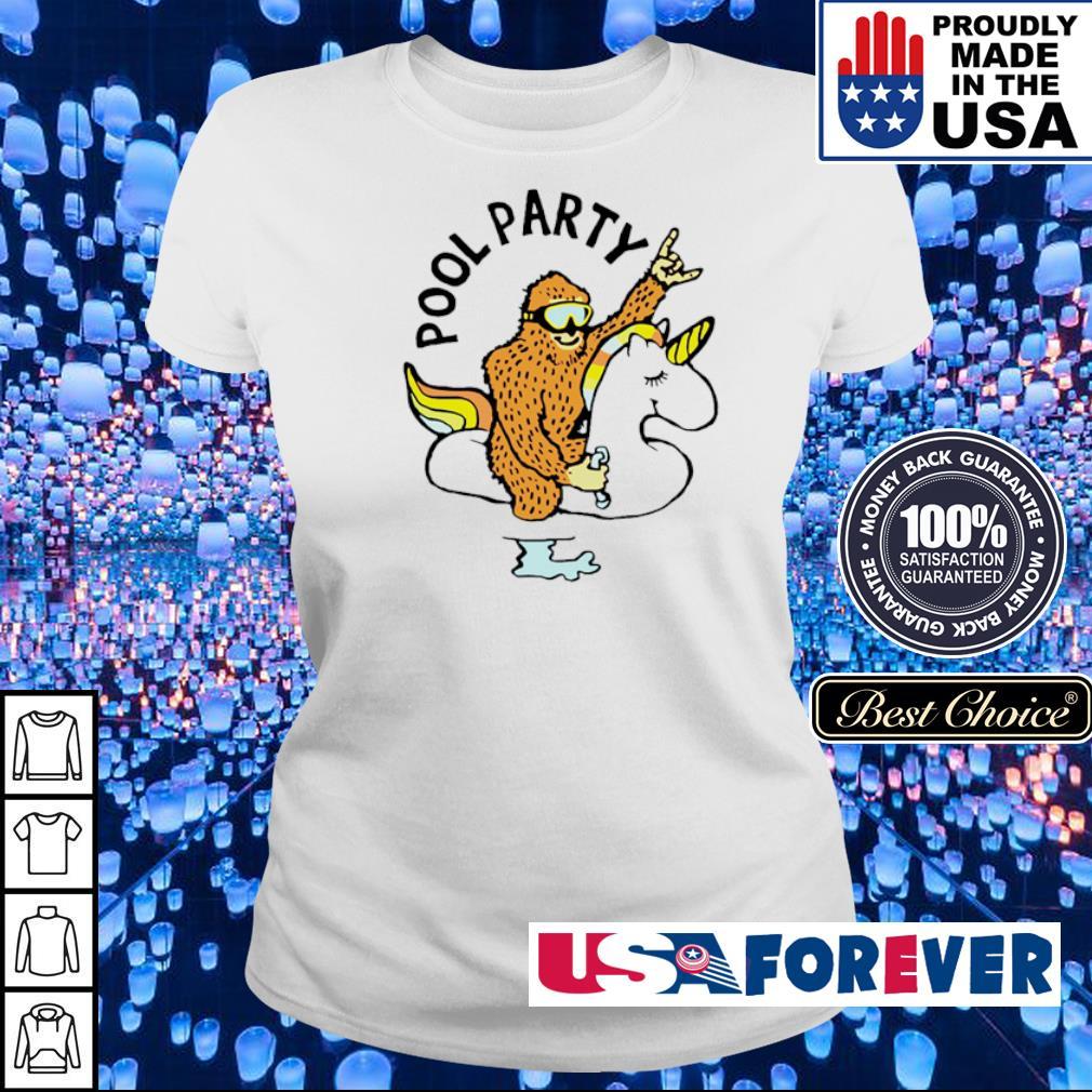 Bigfoot riding unicorn pool party s ladies