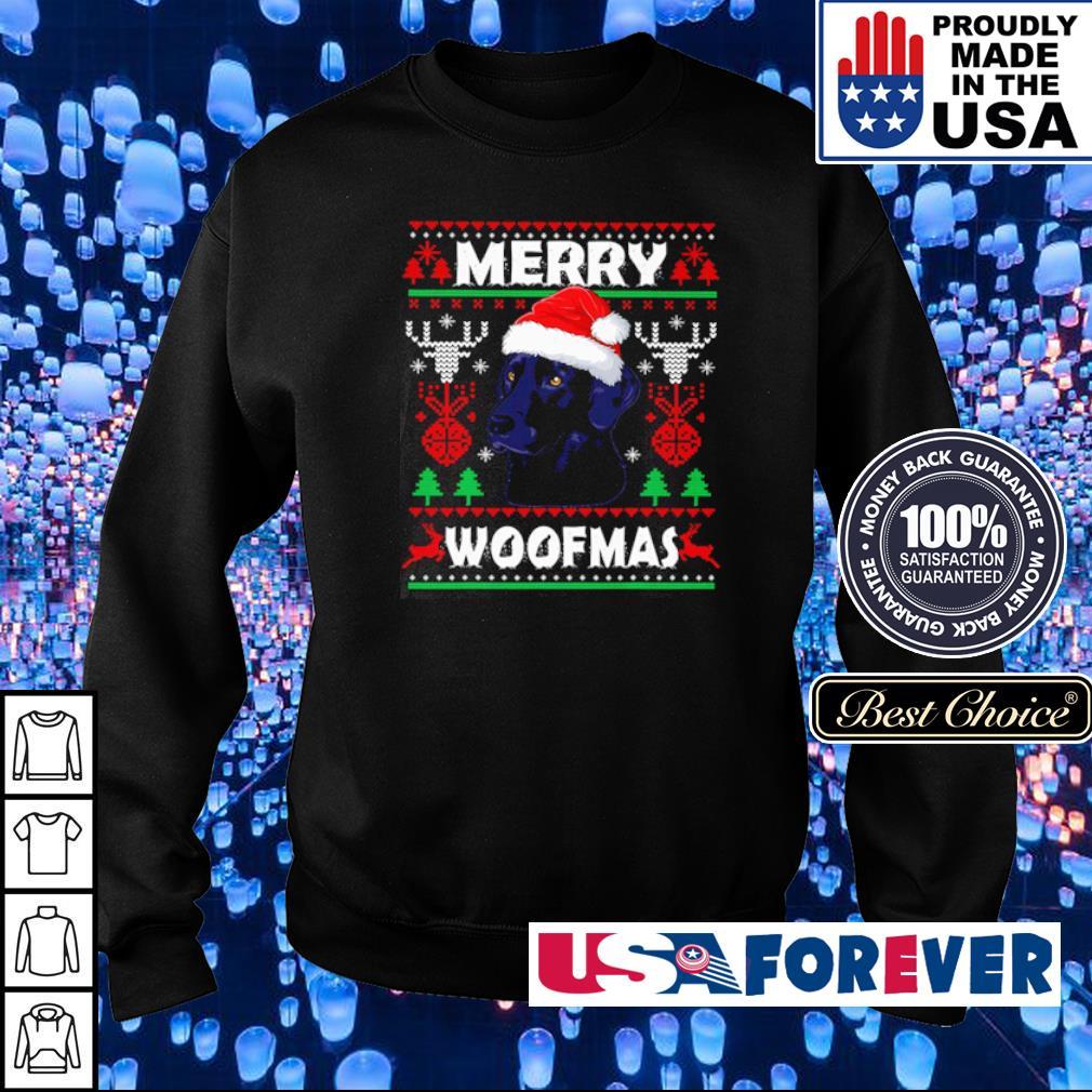 Black Labrador merry Woofmas sweater