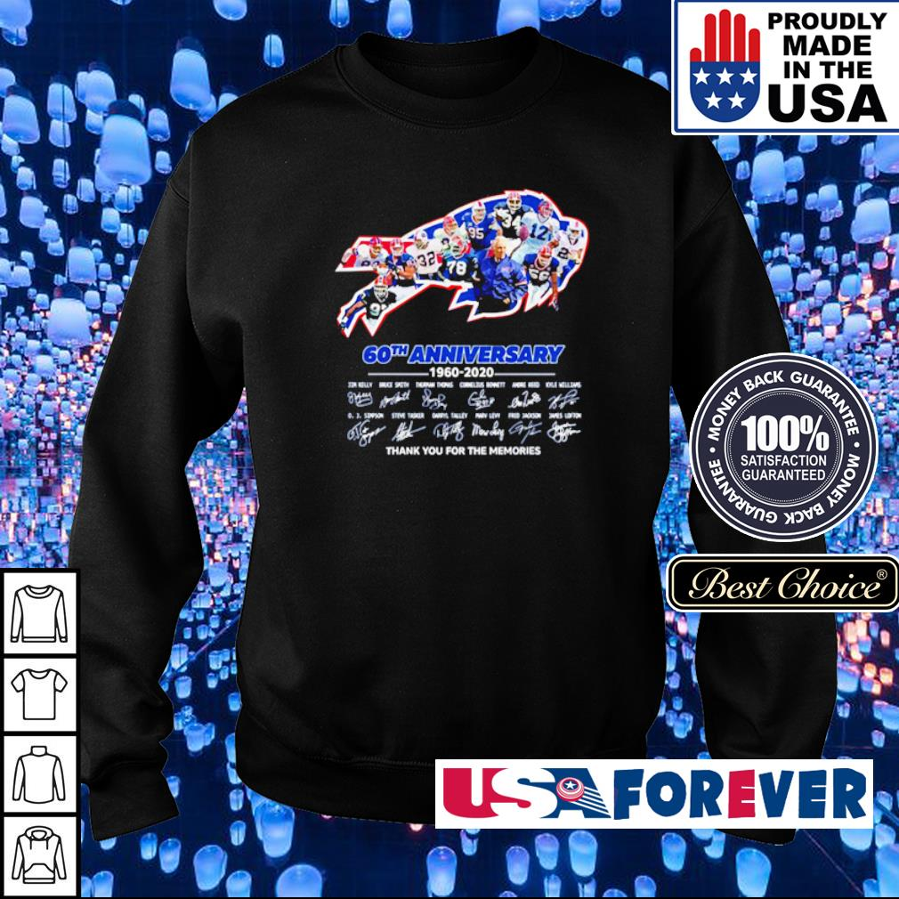Buffalo Bills 60th anniversary 1960 2020 thank you for the memories s sweater