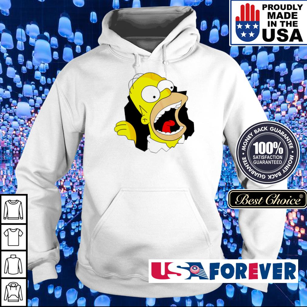 Crazy Hommer in The Simpsons s hoodie