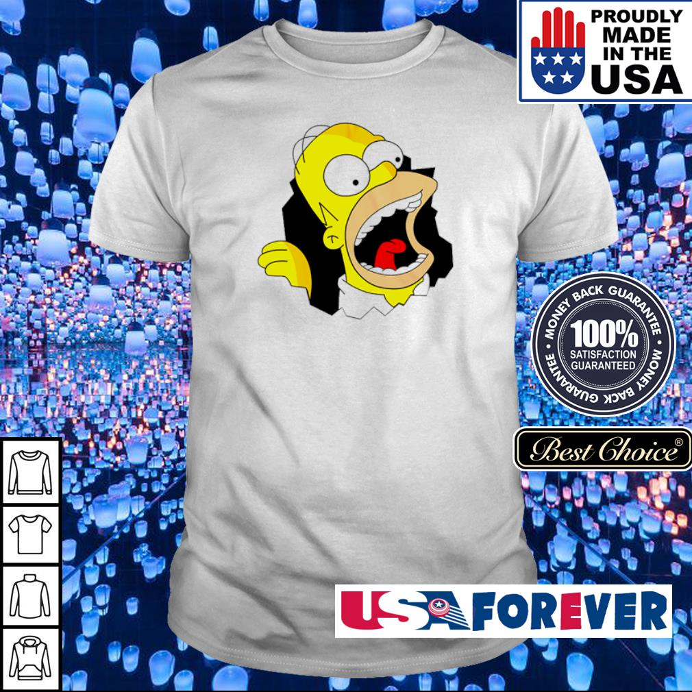 Crazy Hommer in The Simpsons shirt