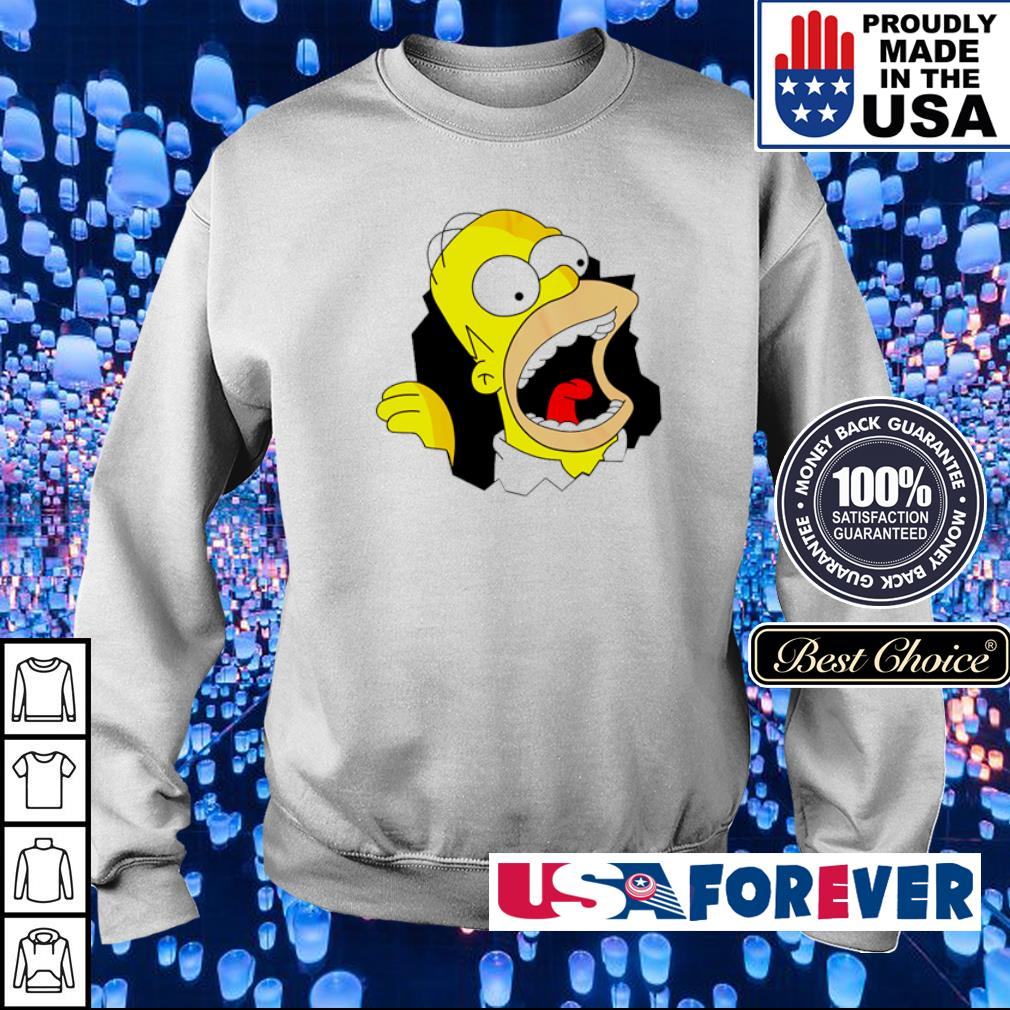 Crazy Hommer in The Simpsons s sweater