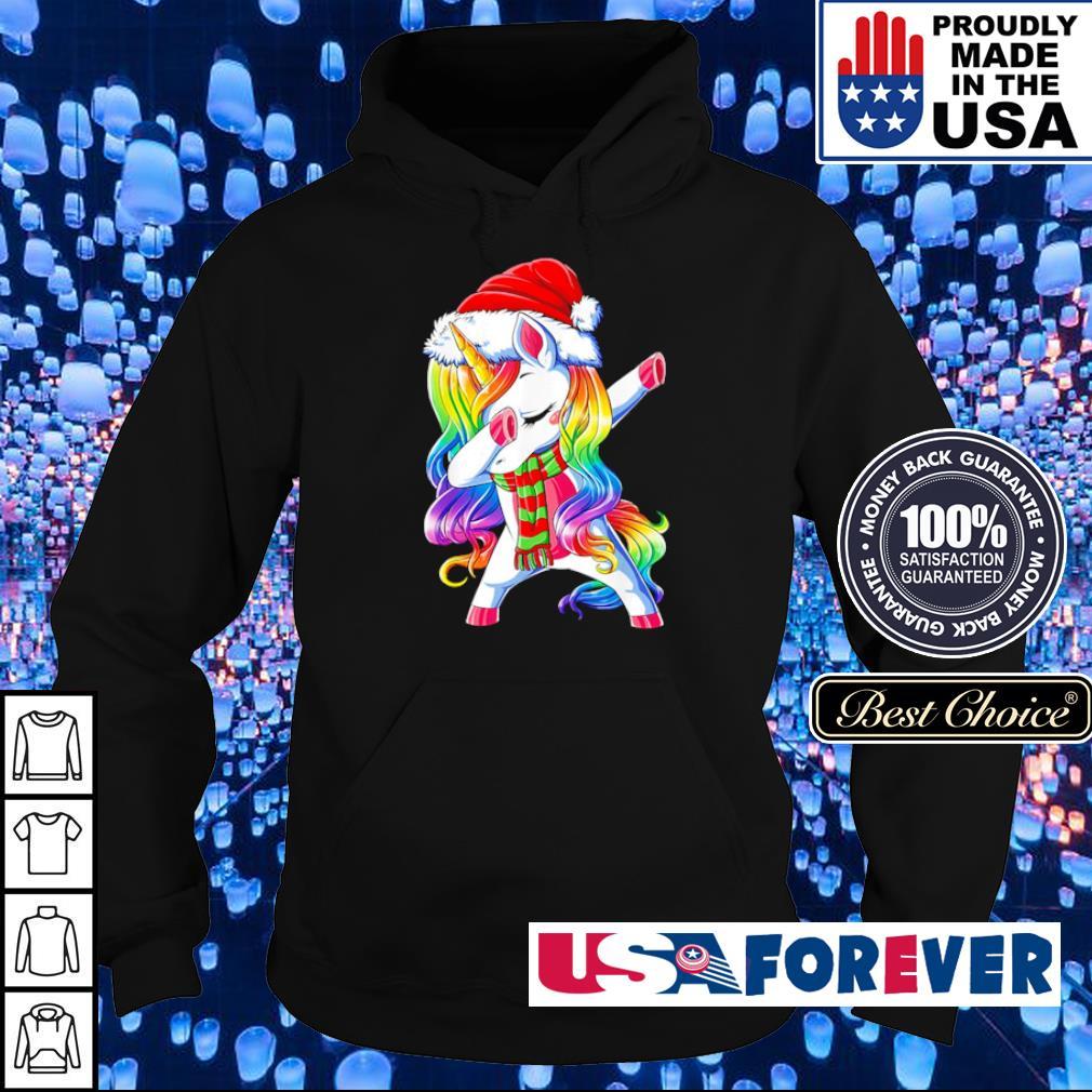 Dabbing unicorn Santa merry Christmas s hoodie