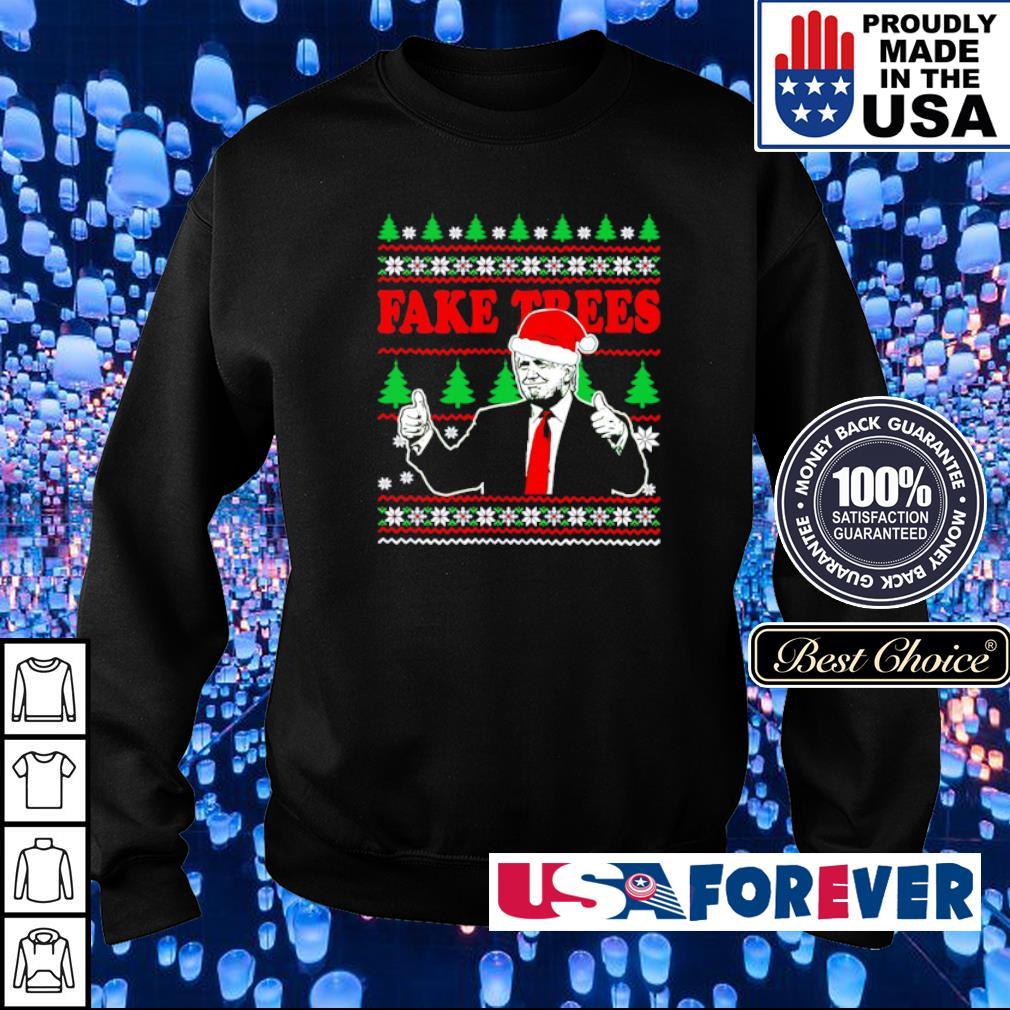Donald Trump fake trees merry Christmas sweater