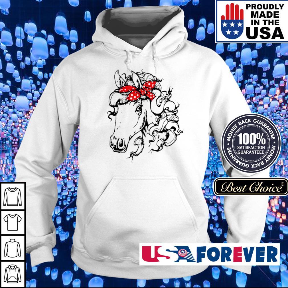 Funny horse wearing bandana s hoodie