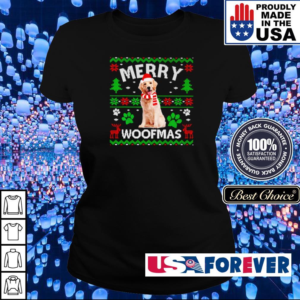 Golden Labrador merry Woofmas sweater ladies