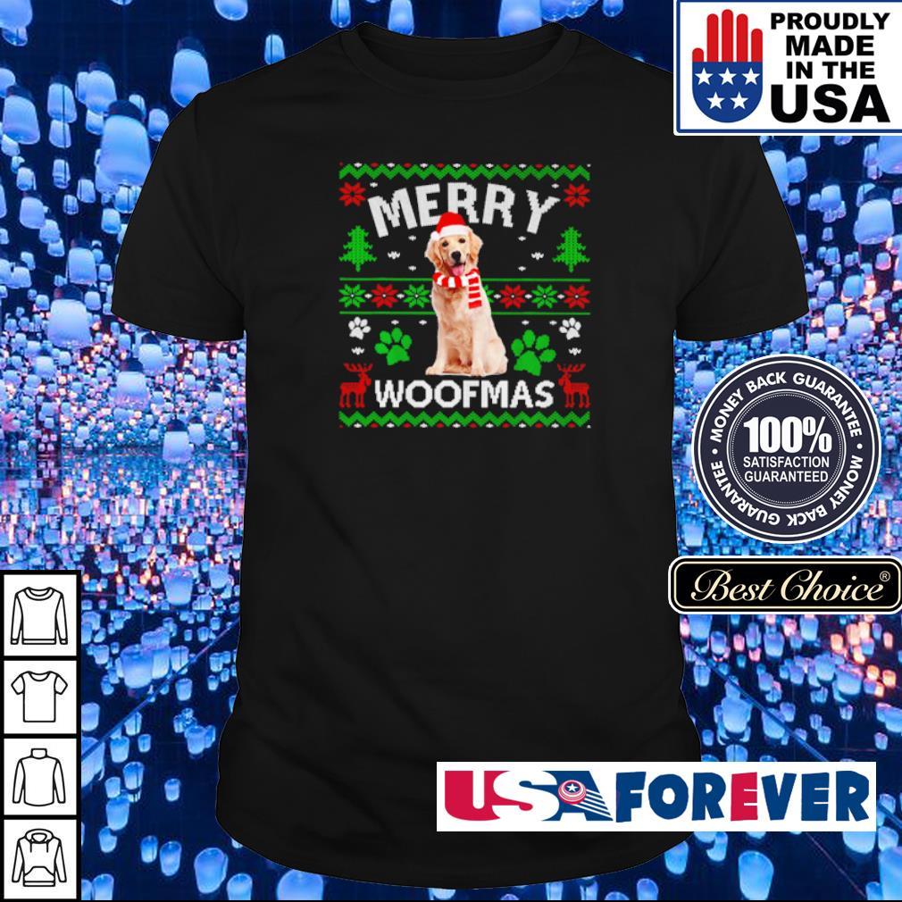 Golden Labrador merry Woofmas sweater shirt