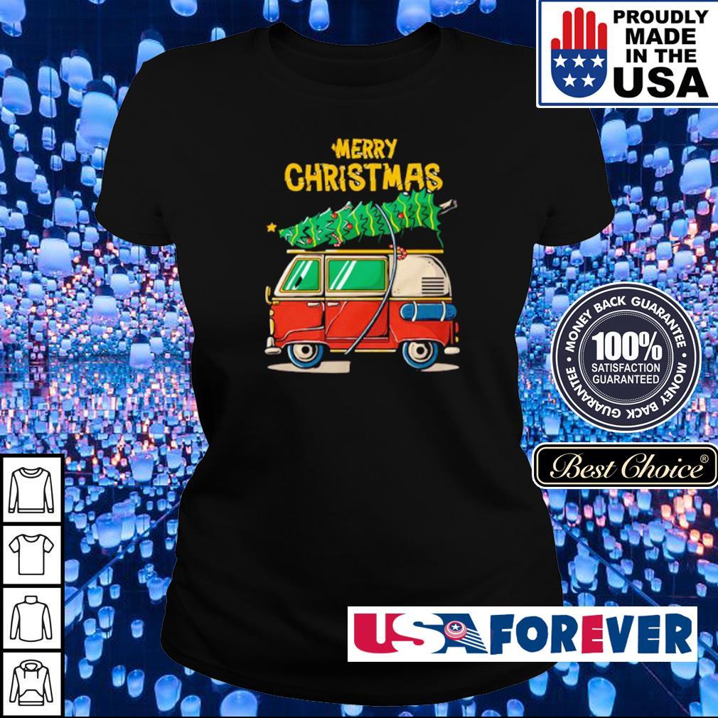Hippie car merry Christmas 2020 s ladies
