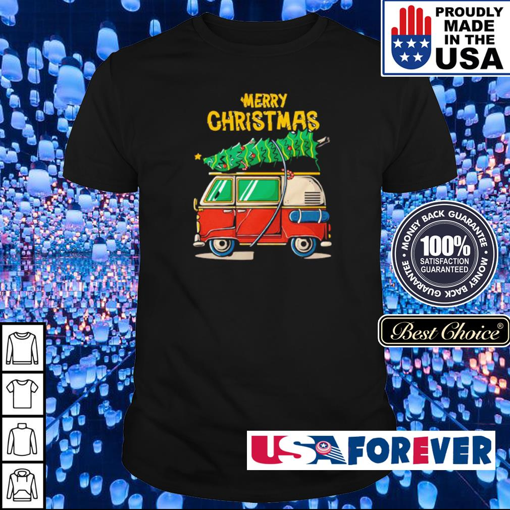 Hippie car merry Christmas 2020 shirt