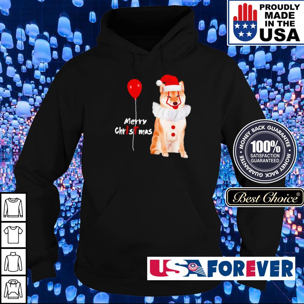 Horror Akita Shiba Pennywise merry Christmas sweater hoodie