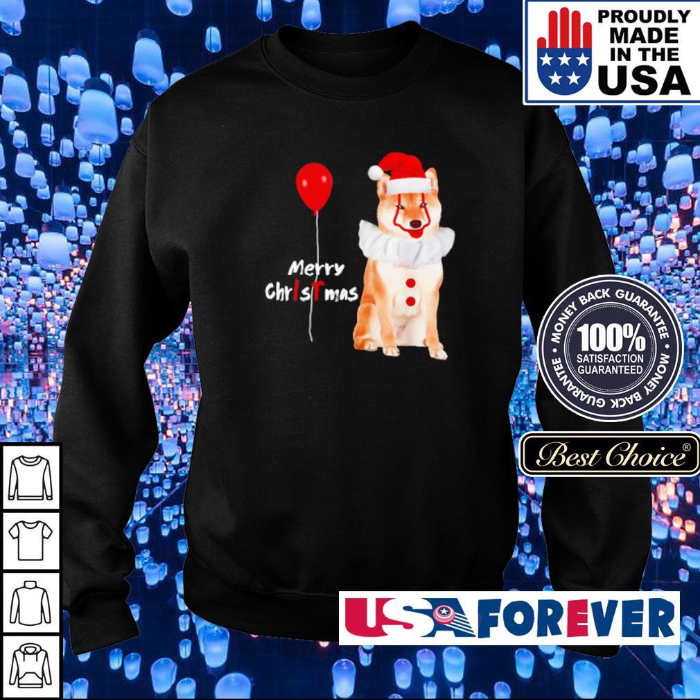 Horror Akita Shiba Pennywise merry Christmas sweater