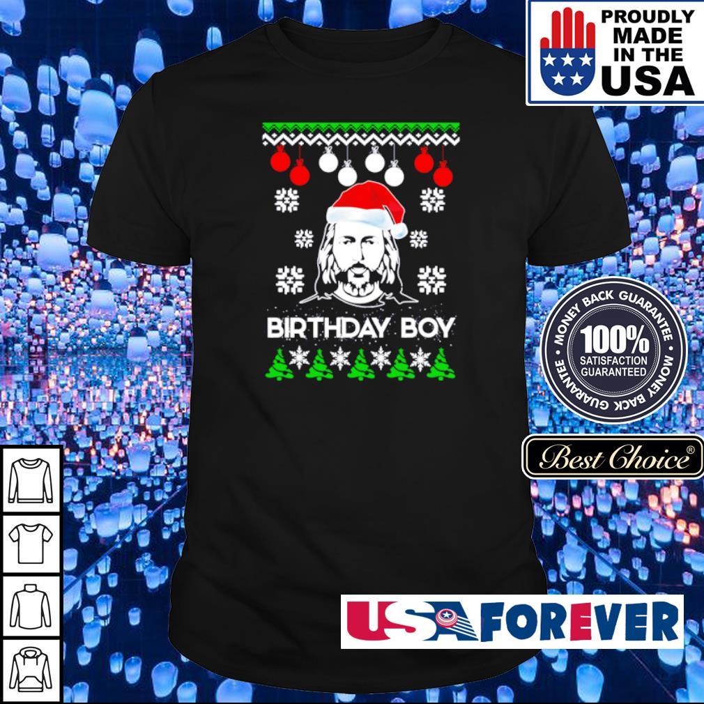 Jesus birthday boy Christmas sweater shirt