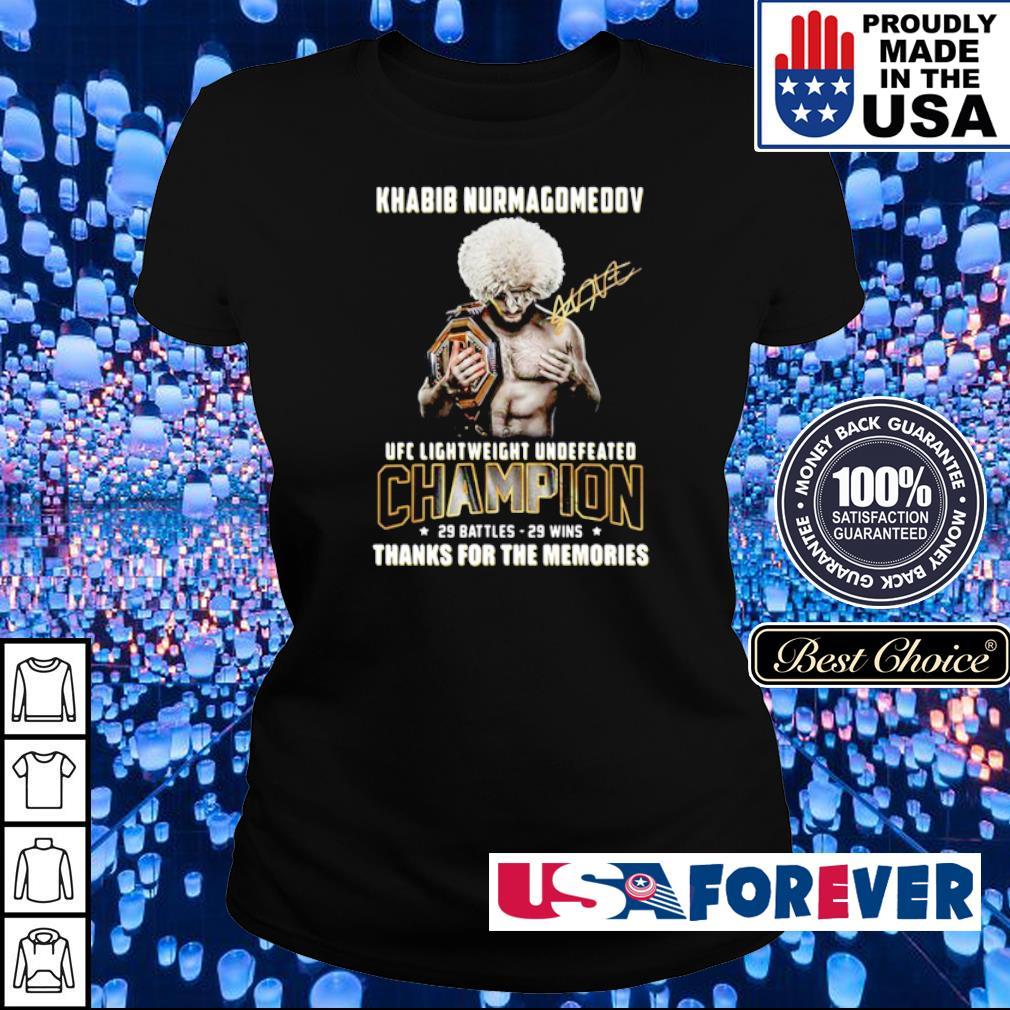 Khabib Nurmagomedov UFC lightweight undefeated champions signature s ladies