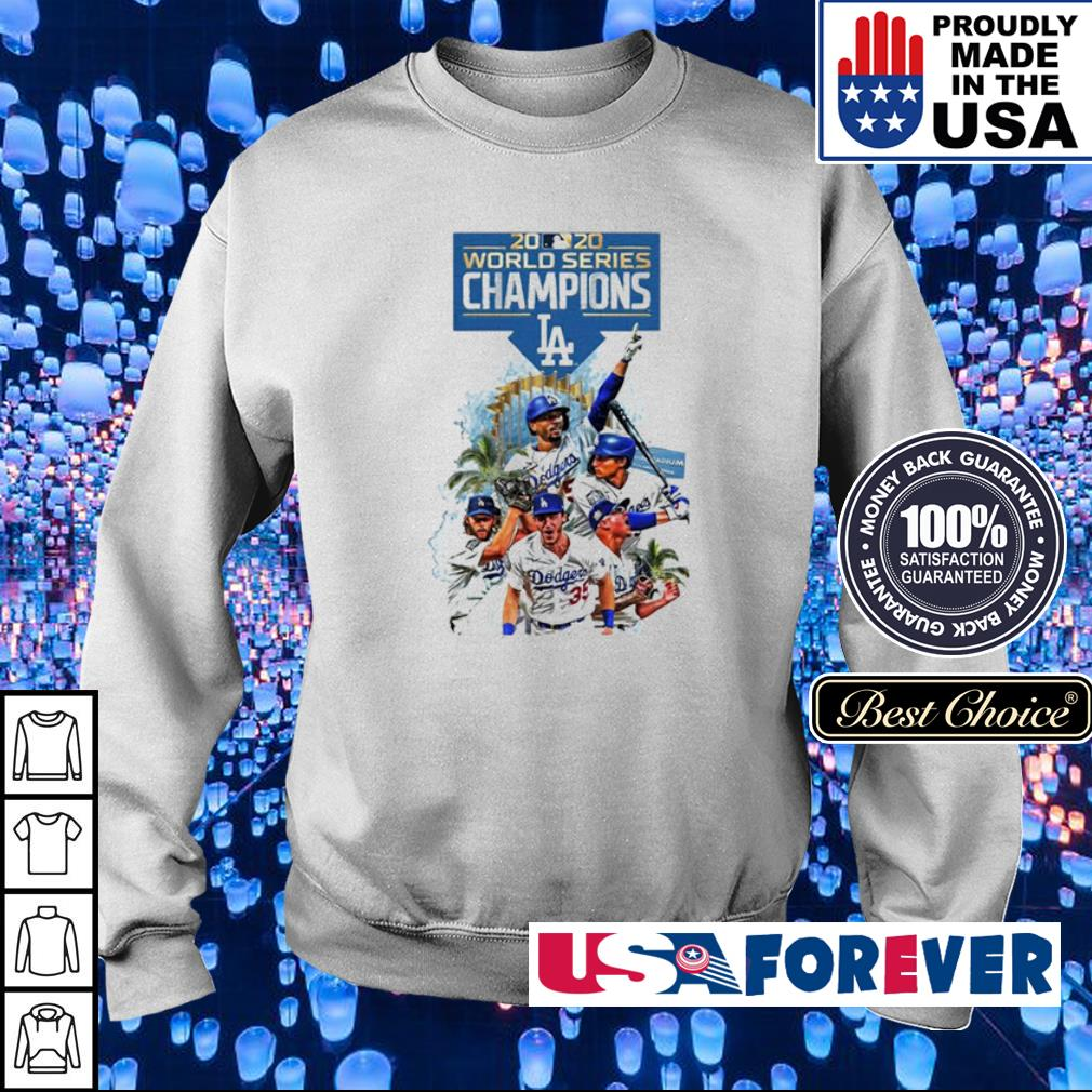 Los Angeles Dodgers 2020 world series champions s sweater