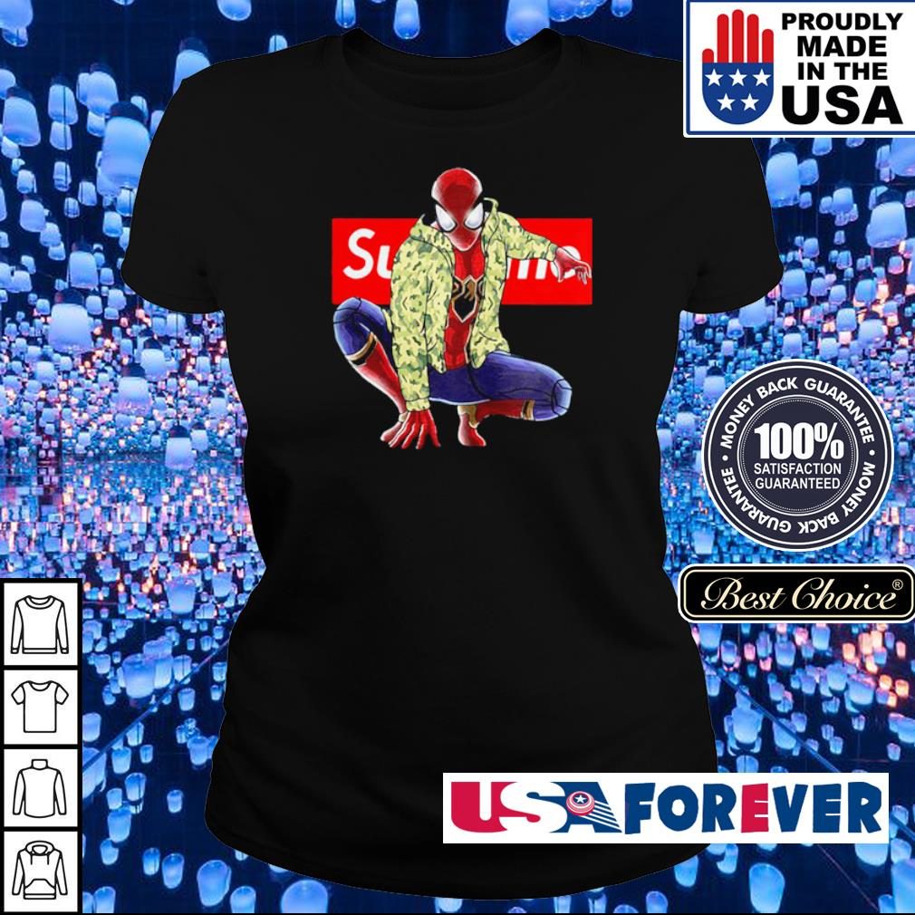 Marvel Spiderman wearing Supreme clothes s ladies