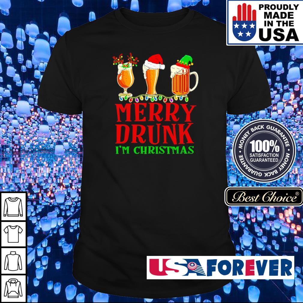 Merry drunk I'm Christmas sweater shirt