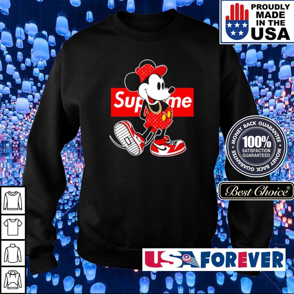 Mickey Mouse x Supreme s sweater