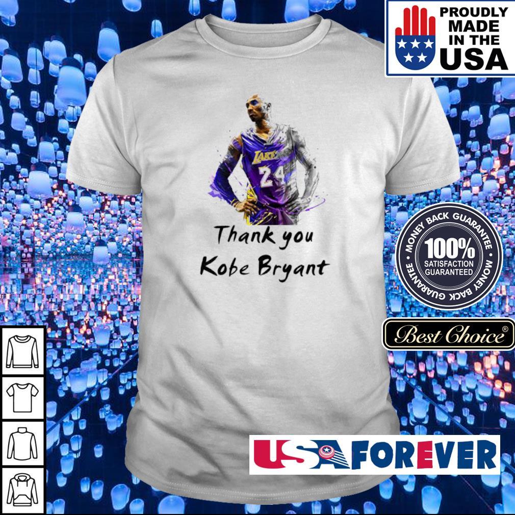 Official RIP Kobe Bryant thank you shirt