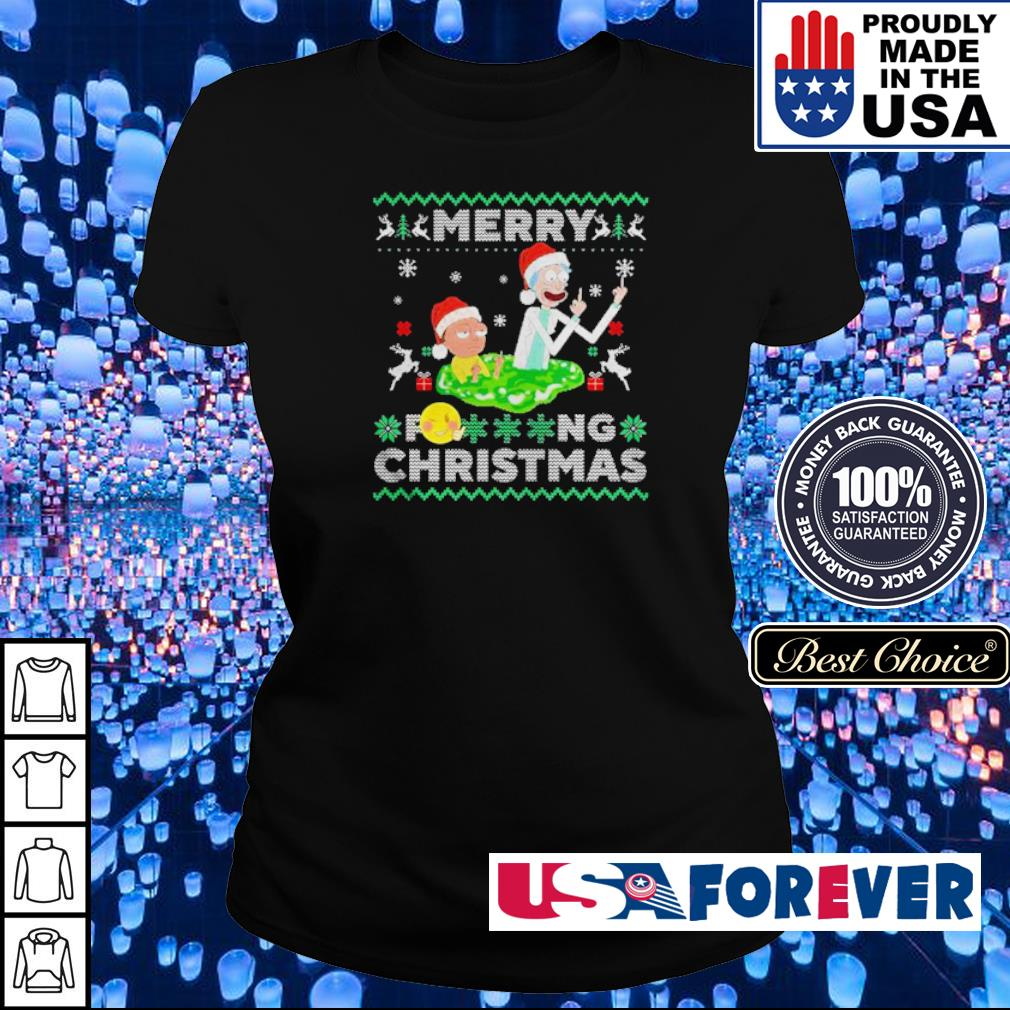 Rick and Morty merry fucking Christmas sweater ladies