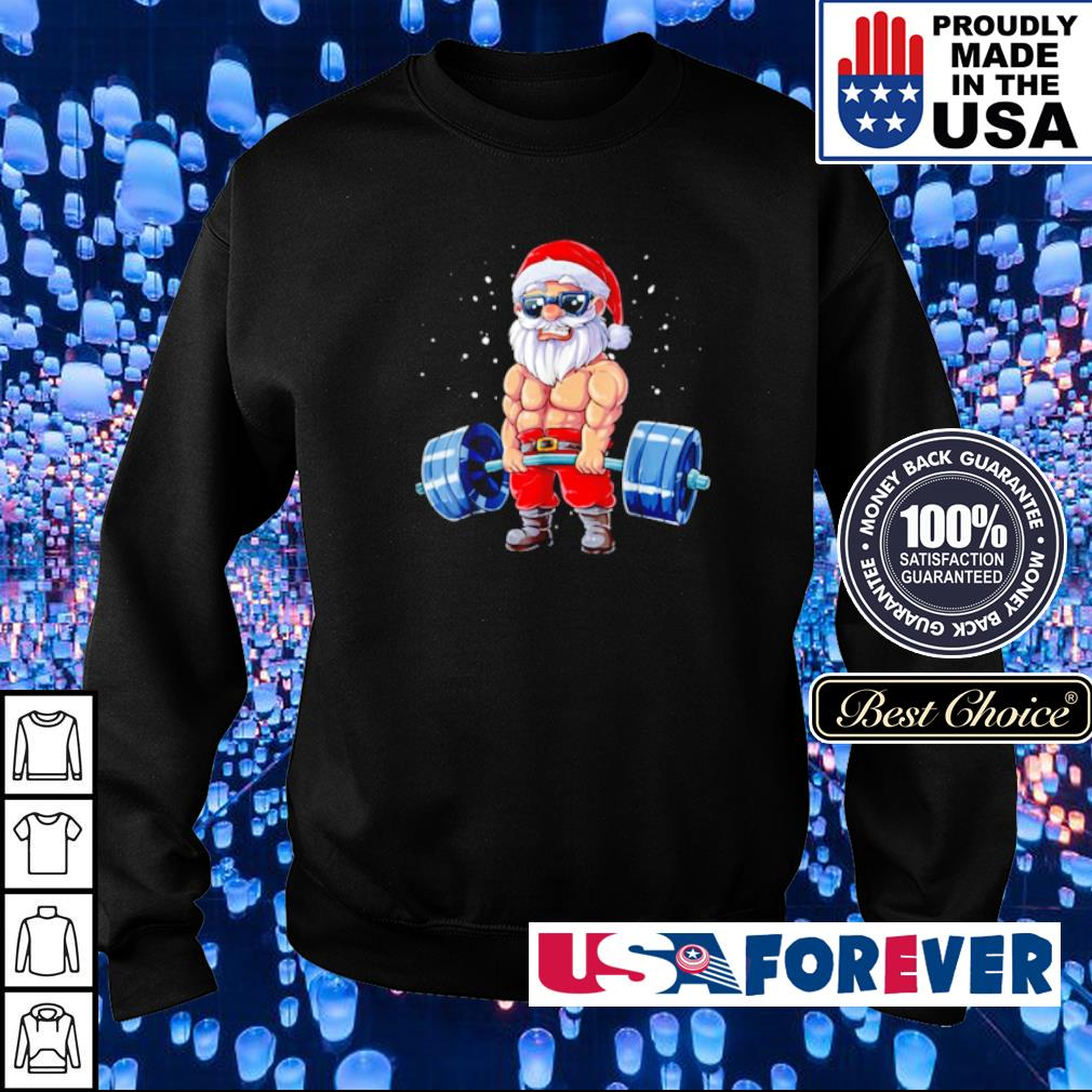 Santa Claus deadlift merry Christmas sweater