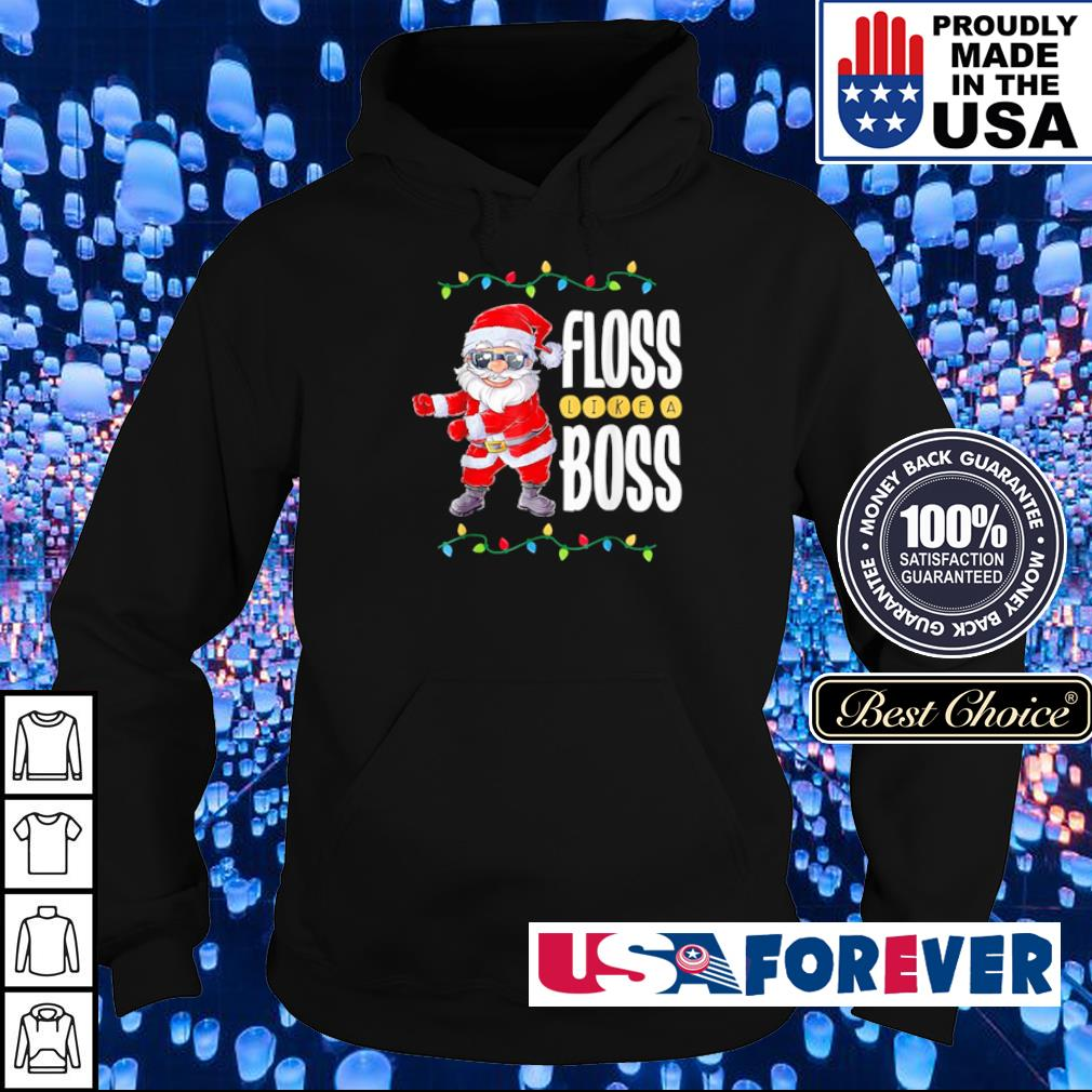 Santa Claus floss like a boss merry Christmas sweater hoodie