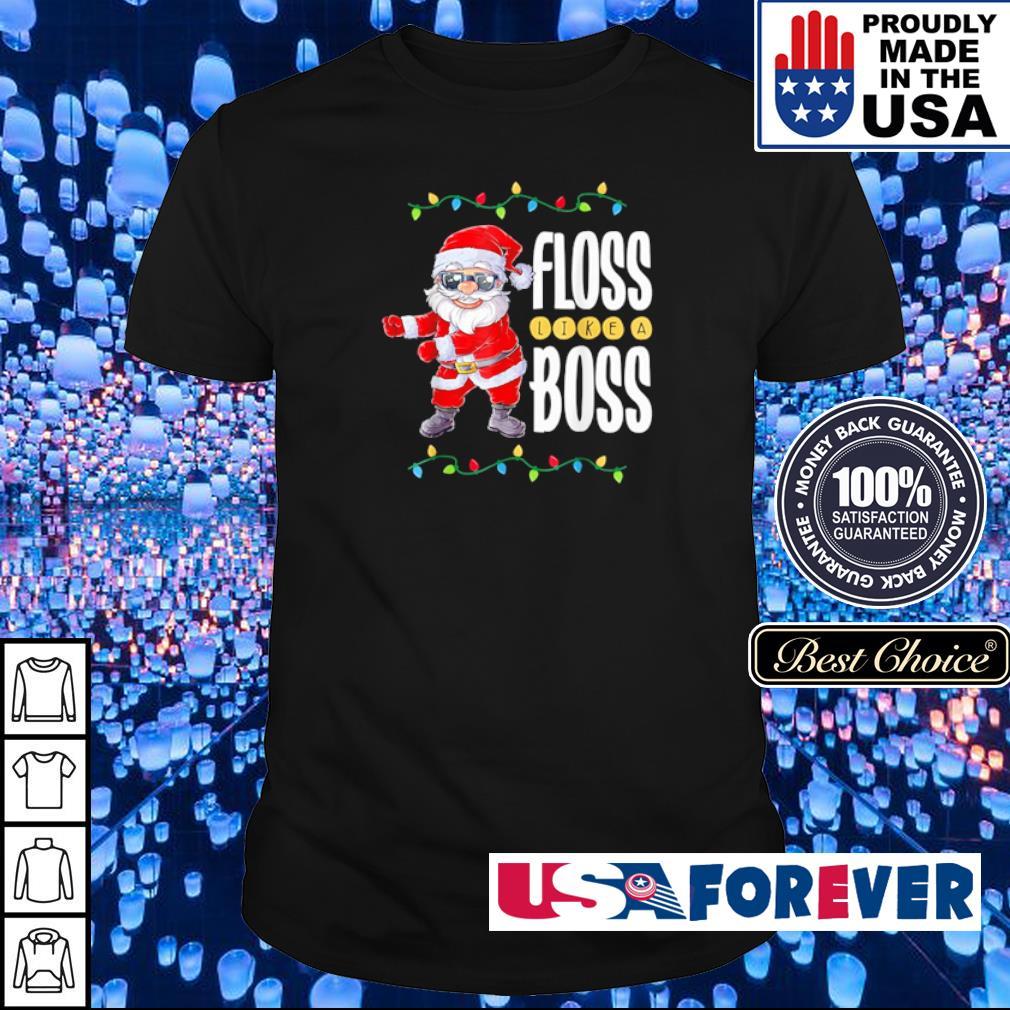 Santa Claus floss like a boss merry Christmas sweater shirt