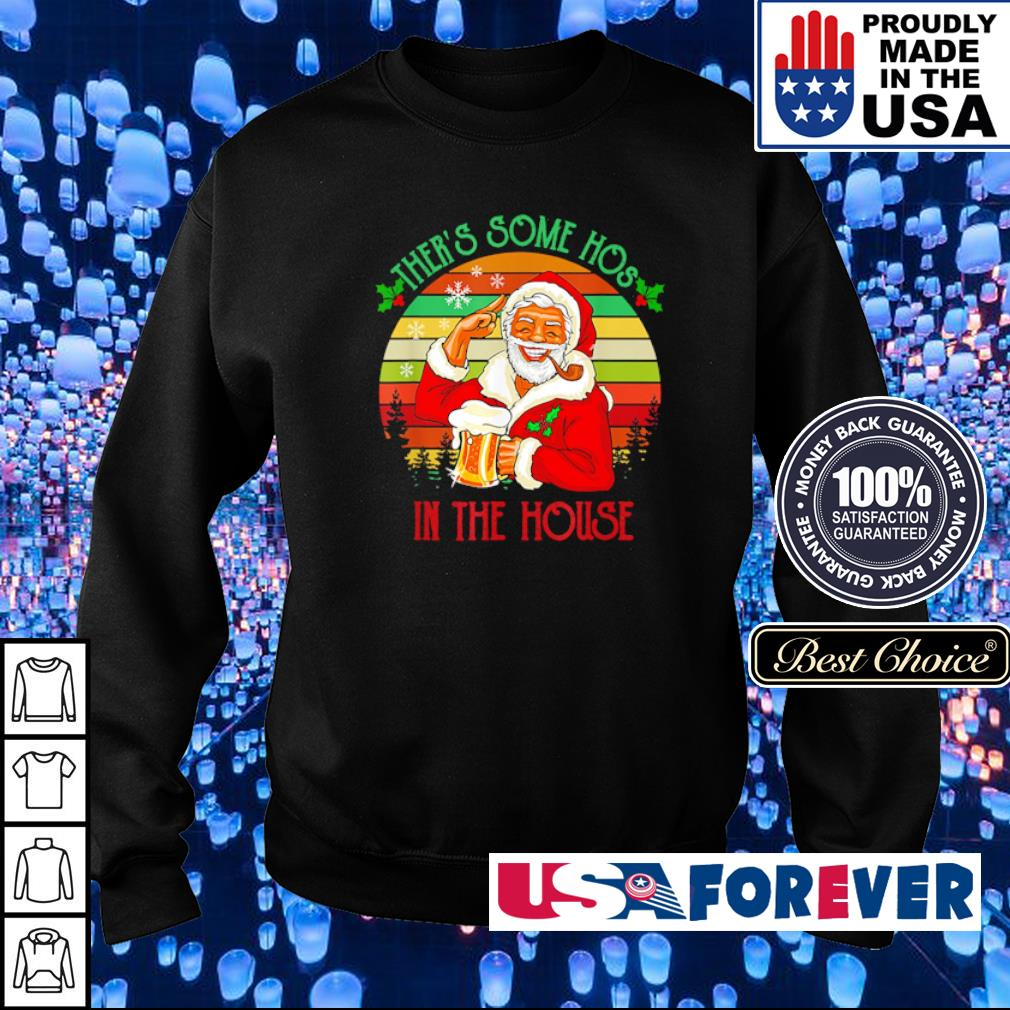 Santa Claus there's some hos in the house vintage Christmas sweater