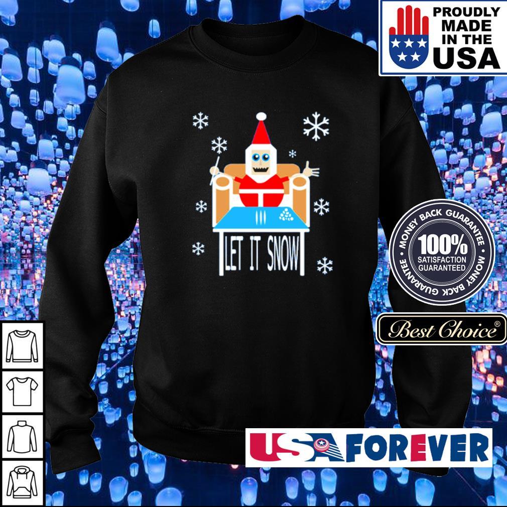 Santa cocaine let it snow merry Christmas sweater