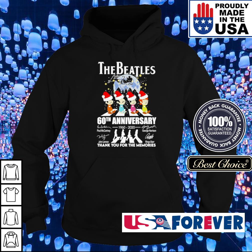 The Beatles 60th anniversary 1960 2020 thank you for the memories Christmas sweater hoodie