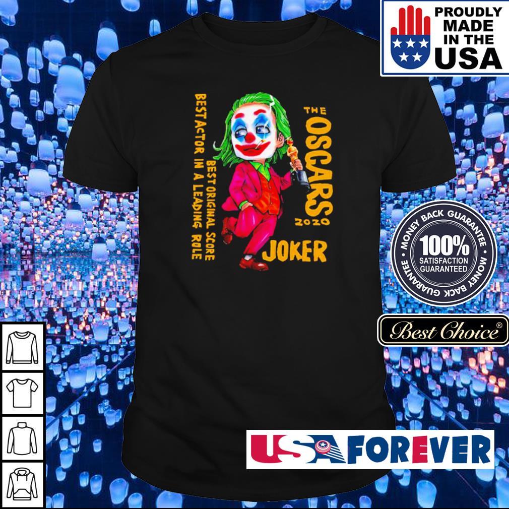 The Oscars 2020 Joker best original score best actor in a leading role shirt