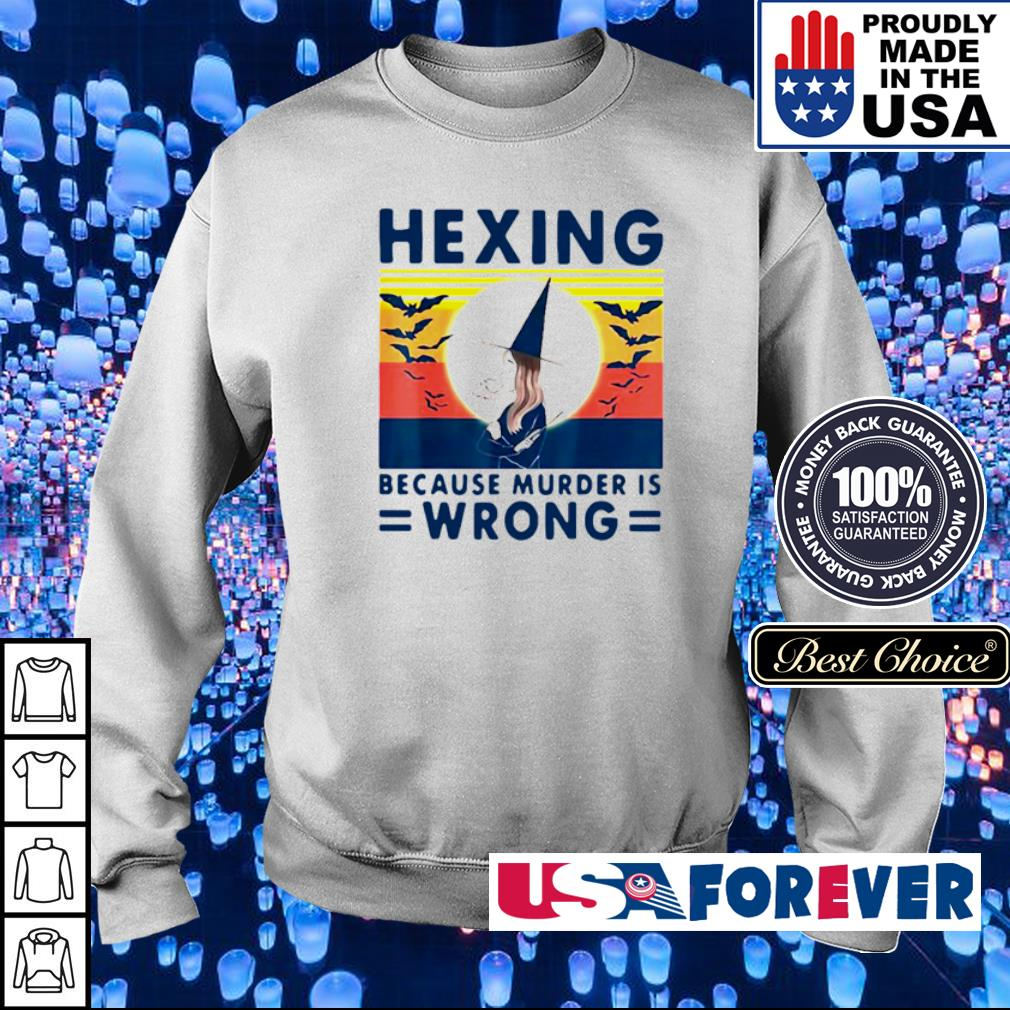 Witch hexing because murder is wrong vintage s sweater