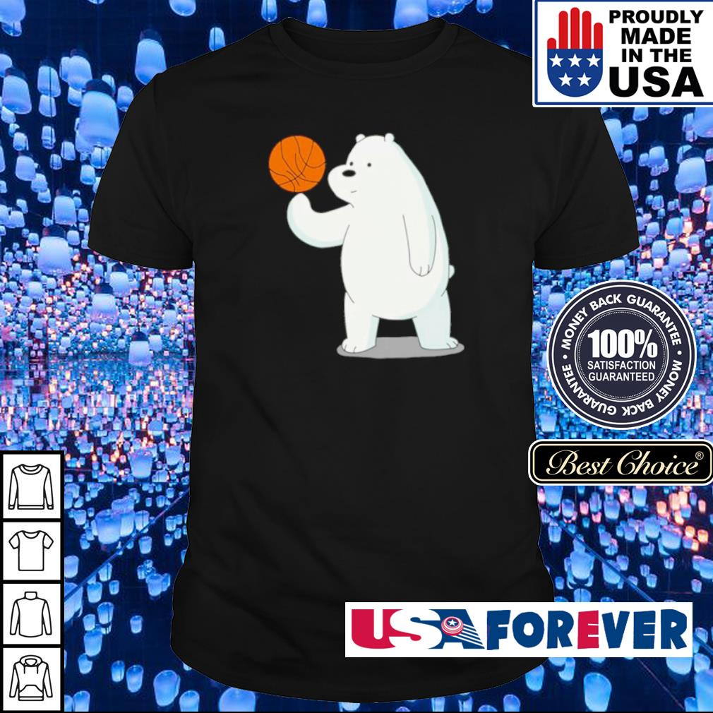 Bear playing basketball shirt