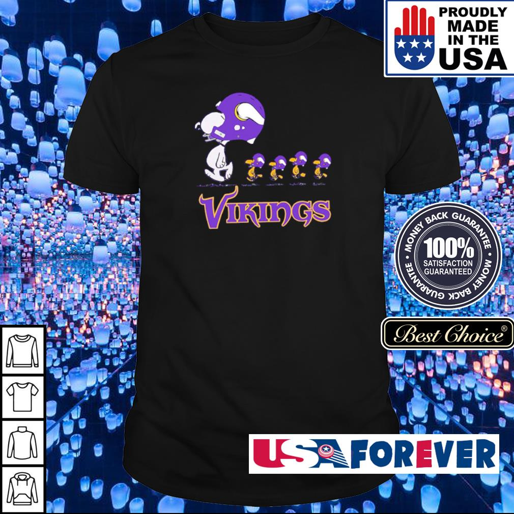 Snoopy and Woodstock Minnesota Vikings shirt