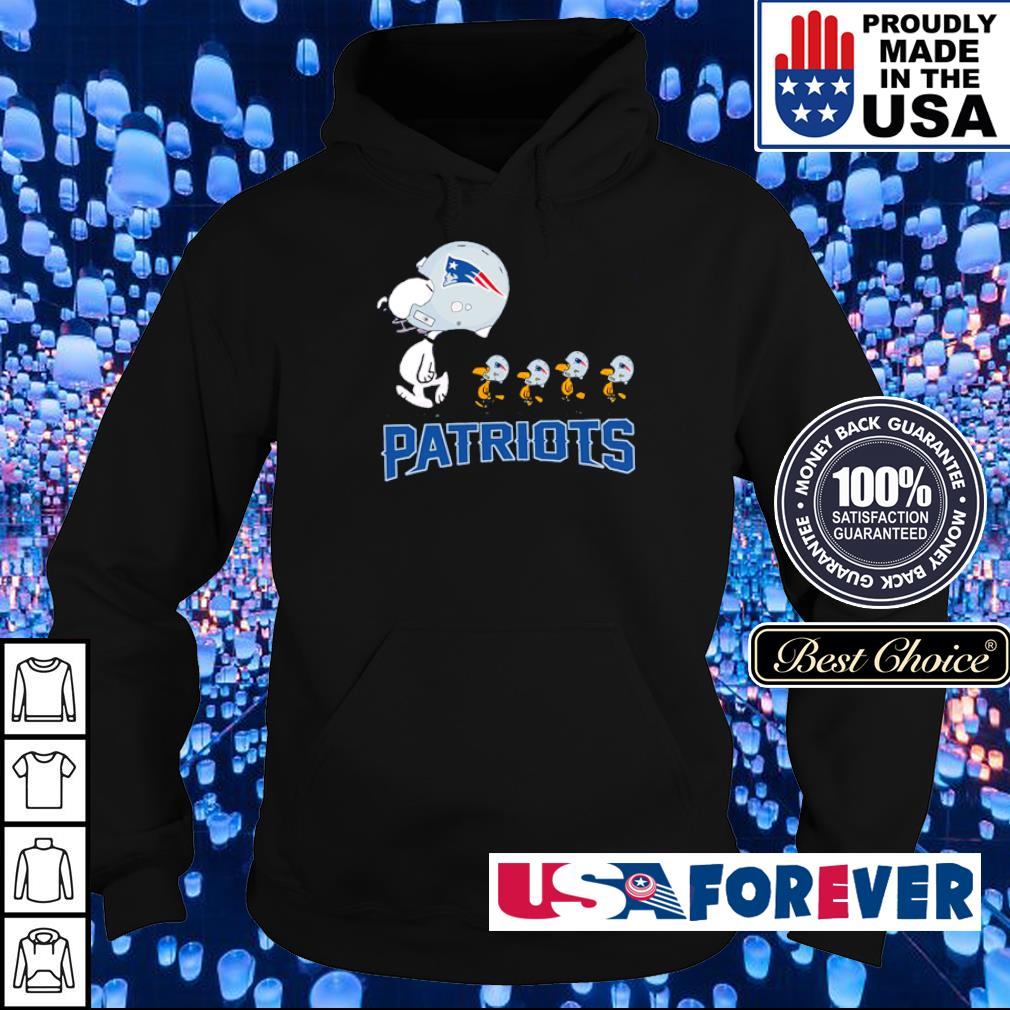 Snoopy and Woodstock New England Patriots s hoodie