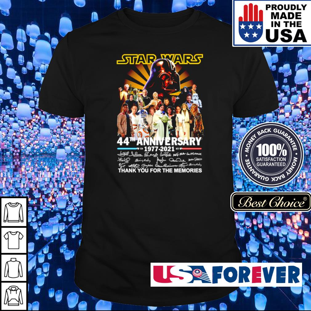 Star Wars 44th anniversary 1977 2021 thank you for the memories shirt