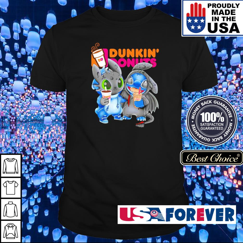 Toothless and Stitch love Dunkin' Donuts shirt