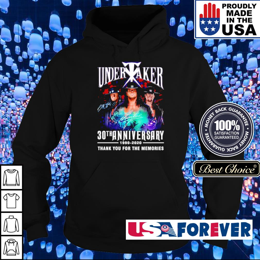 Undertaker 30th anniversary 1990 2020 thank you for the memories s hoodie
