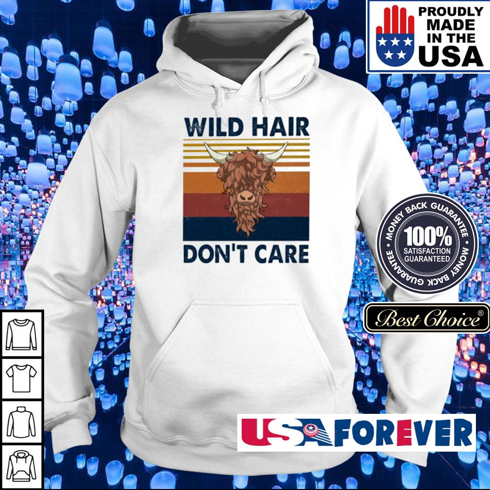 Wild hair don't care vintage s hoodie