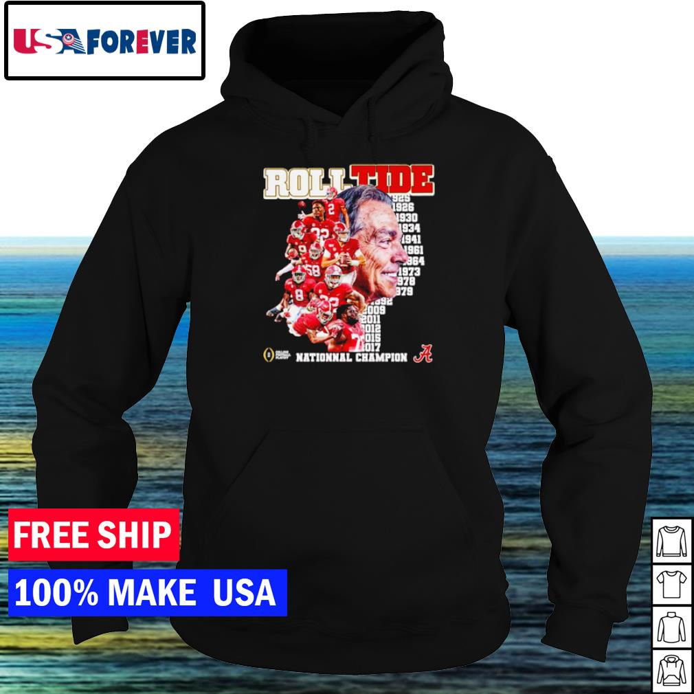 1925 to 2017 National Champion Alabama Crimson Tide s hoodie