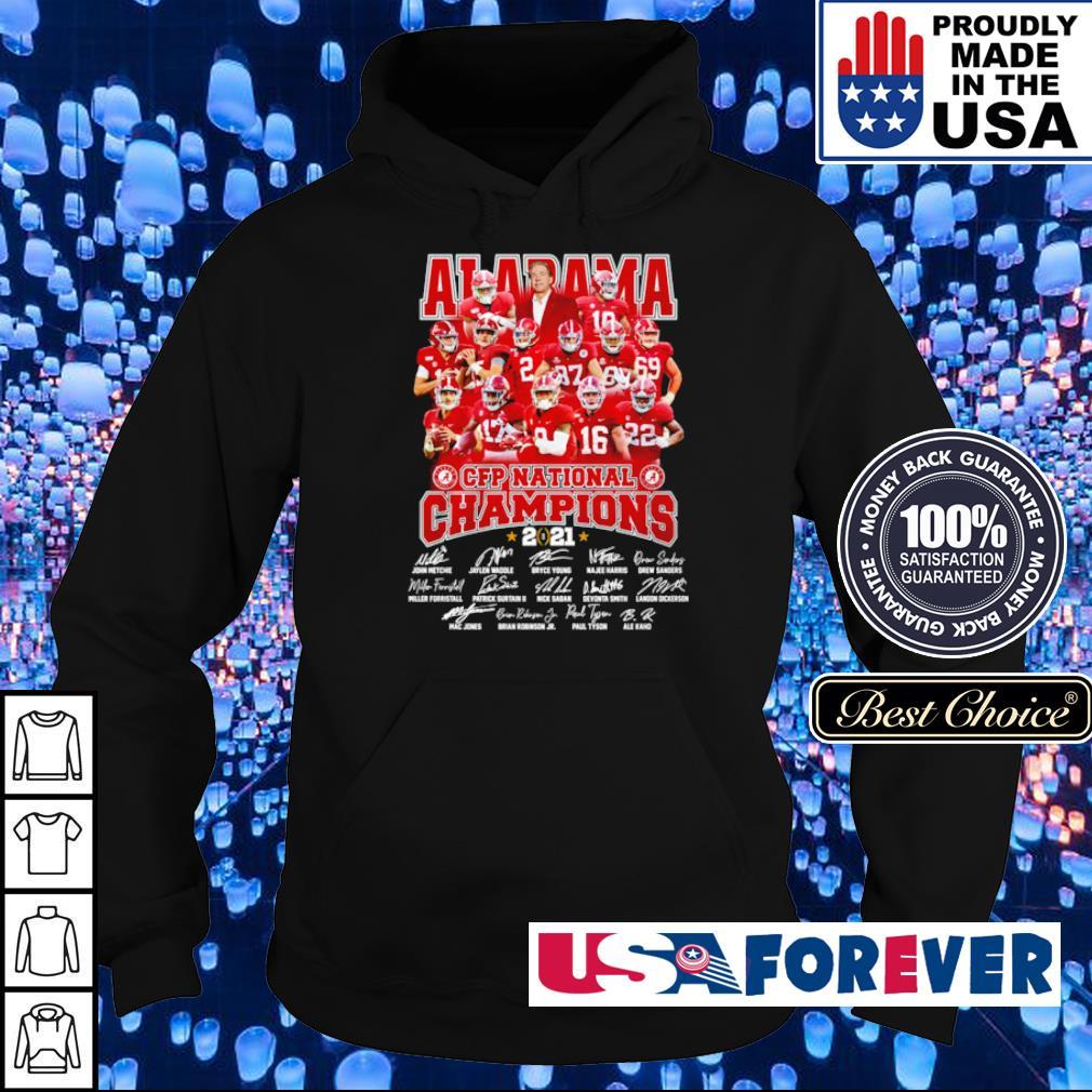Alabama Crimson Tide CFP National Champions 2021 signature s hoodie