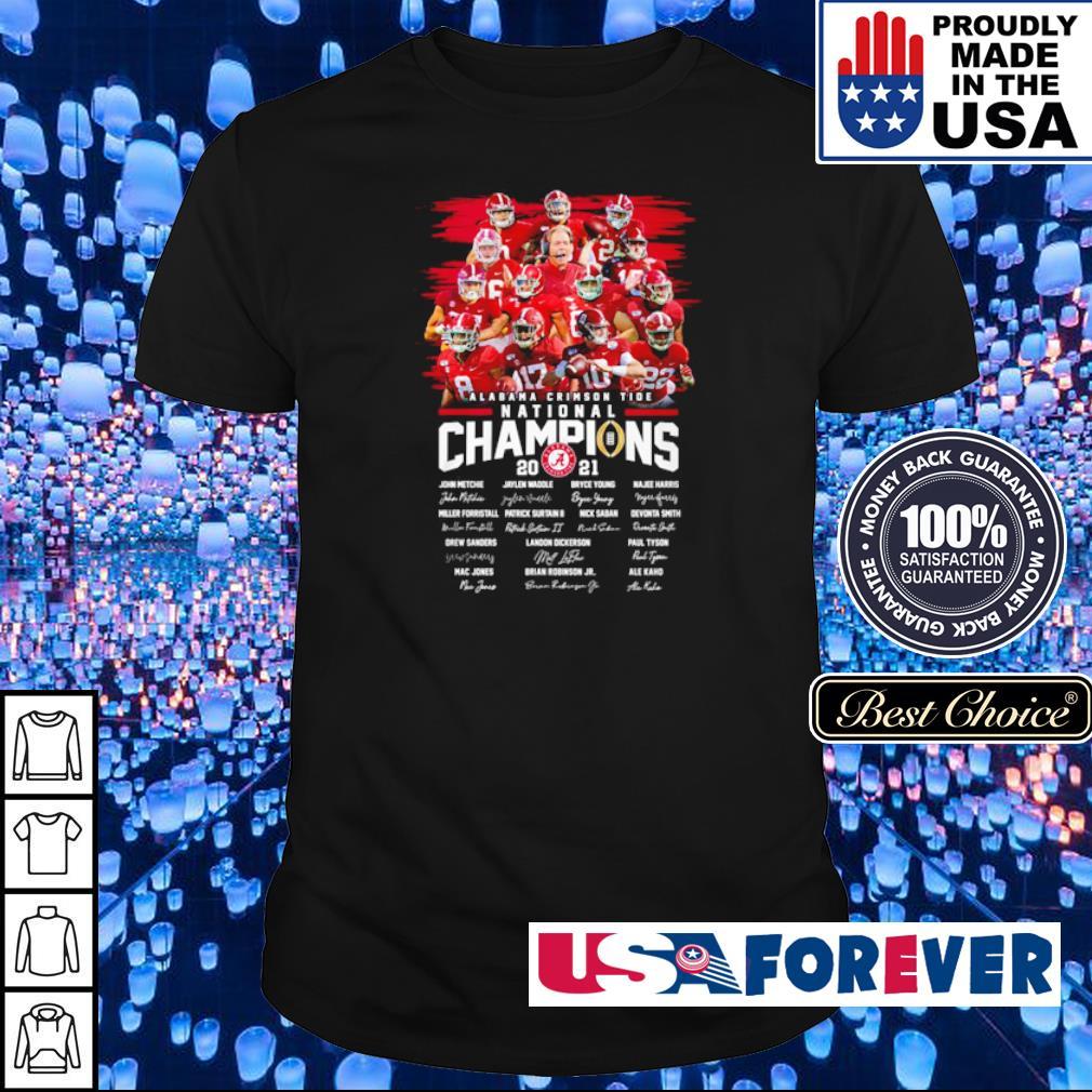 Alabama Crimson Tide National Champions 2021 team players signature shirt