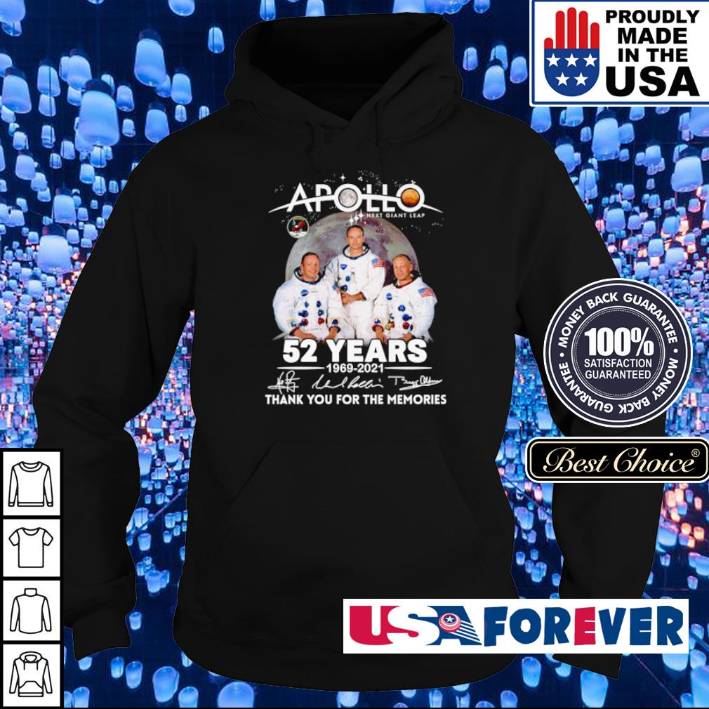 Apollo next giant leap 52 years 1969 2021 thank you for the memories signature s hoodie